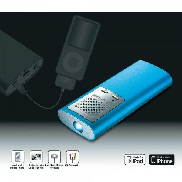 """Mini Beamer Pico Projector Aiptek PocketCinema T30 6""""-65"""", Ebay, Sofortkaufen für 89€"""