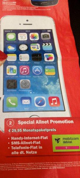 [LOKAL]MediaMarkt Düsseldorf iPhone 5s 16 GB mit Vertrag Telekom Netz