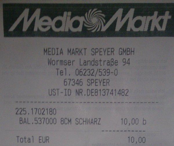 (lokal) Ballpod Ball-Stativim Media Markt Speyer