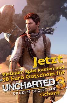Uncharted 3 für 39,95€ bei Bestellung bei Pauldirekt und Order eines aktuellen Platinumspiels für 14,90€
