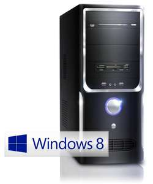 CSL Office PC Sprint 5231W8 inkl. Windows 8.1 - AMD 2x 3000MHz, 4GB RAM, 500GB HDD, Radeon HD 7480D, DVD