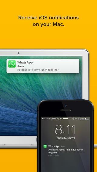 [iOS] Notifyr - Receive iOS notifications on your Mac (z.B. Whatsapp) - sonst 3,99€
