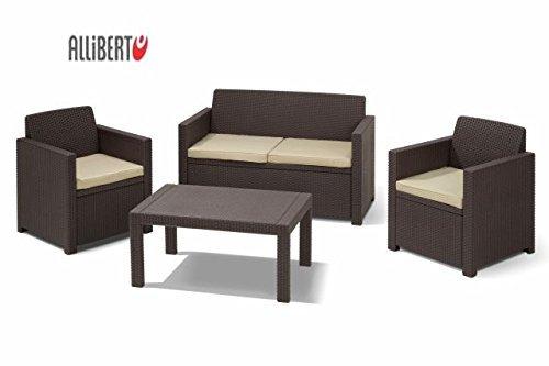 [3% Qipu] Gartenmöbel / Lounge Set Merano und Riviera Sitzgruppe inkl. Sitzkissen für 179€ frei Haus