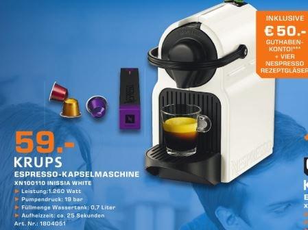 Krups Nespresso XN 1001 Inissia white inkl. 30€ Guthaben