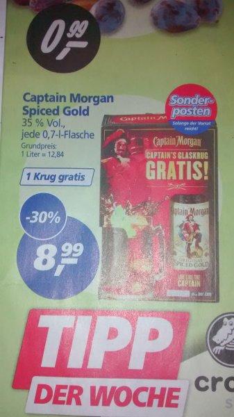 Captain Morgan spiced Gold 0,7l für 8,99€ inkl. Krug [bundesweit ab 11.08.@real,-]