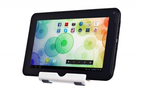 Xoro PAD 722 17,8 cm (7 Zoll) Tablet-PC (Cortex A9, 1,2GHz, 1GB RAM, 8GB Flash Speicher, WLAN, BT, USB, Android 4.2) inkl. Ständer und Softstoff-Schutzhülle schwarz