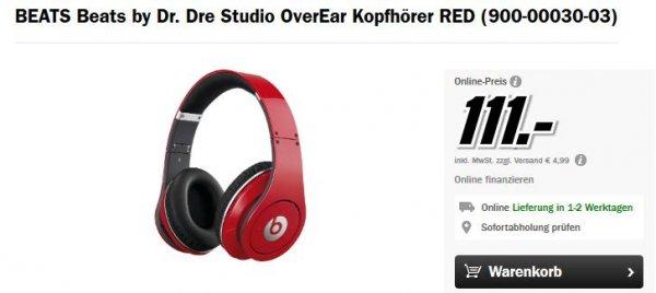 [Media Markt - auch online] Beats by Dr. Dre Studio (rot) für 111€