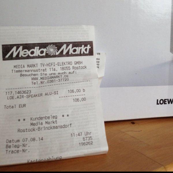 Loewe Air Speaker für 106 EUR im MM Rostock