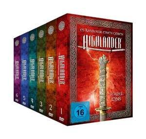Highlander - Package 1-6 [Limited Edition] [45 DVDs] für 66€ @Amazon.de