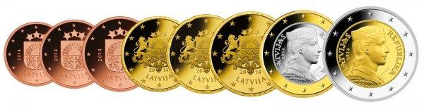 Lettland Eurosatz zum Tauschpreis von 3,88