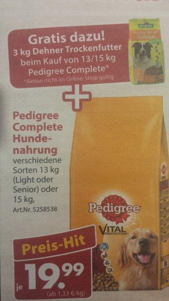 """Dehner Garten-Center / Pedigree 15kg + 3kg Knuspermix -> 19,99€ - PLUS 5€ """"Nachkaufgutschein"""""""