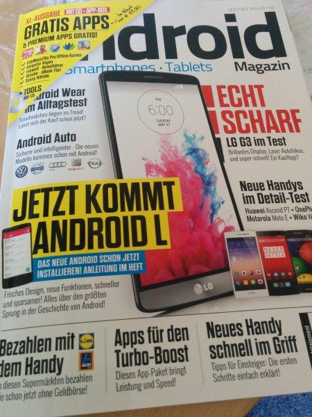 4 kostenlose Android Apps in dem aktuellen Android Magazin (Sept.Okt.) im Fachhandel