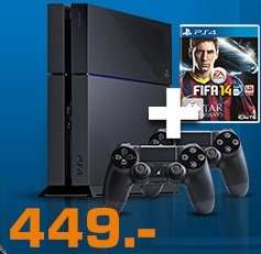[Saturn] Playstation 4 (PS4) + 2. Controller + FIFA 14 für 449 EUR