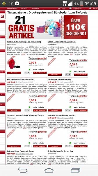 21 Artikel im Wert von über 110€ gratis bei Druckerzubehoer.de [5,97€ VSK]
