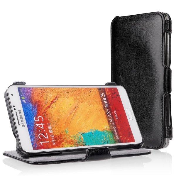 [Amazon] 50% Rabatt auf EasyAcc® Samsung Galaxy Note 3 Flip Cover Handytasche (Wieder da!)