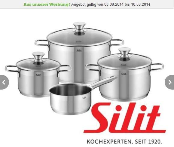 Silit Topfsets Pisa für nur 55€ bzw Achat für nur 60€ bei mömax