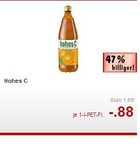 [Kaufland] Hohes C, versch. Sorten für 0,88€ am Super-Weekend 14.08.-16-.08.