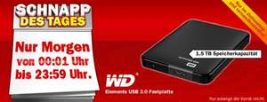 "Mediamarkt WD Elements Portable 1,5TB 2,5"" Festplatte USB 3.0"