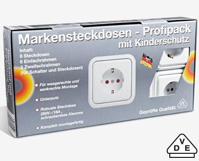 Markensteckdosen-Set Mega Schnäppchen! 8 st. 9,99 EUR
