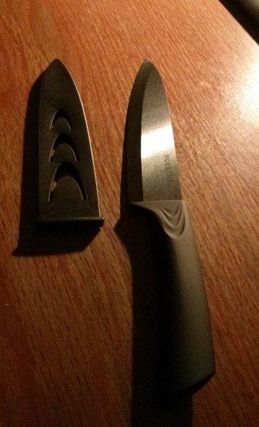 Aldi Nord - Keramik-Messer in weiß/schwarz