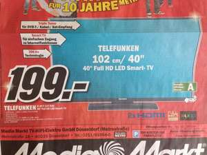 "[Lokal Media Markt Düsseldorf ] - Telefunken 40 "" LED FullHD TV - Smart TV (D40 F 127 R3C)"