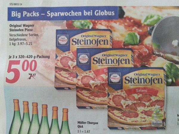 [Globus] Original Wagner Steinofen Pizza - 3 für 5€