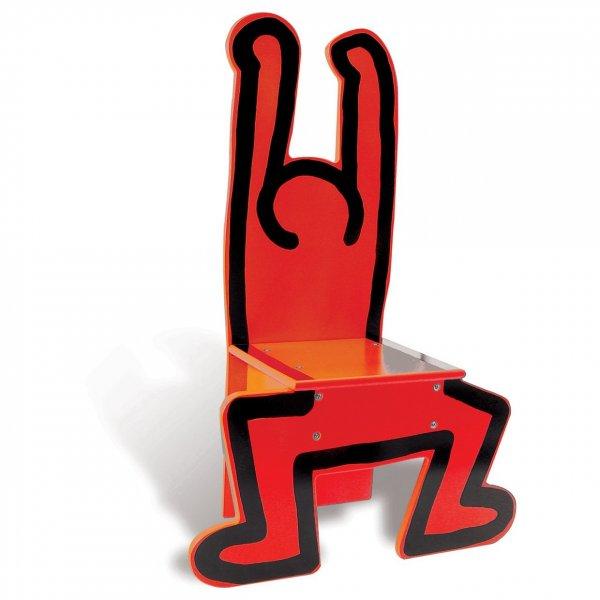(ebay) Vilac Kinderstuhl Keith Haring rot, Design Stuhl reduziert 29,72 €