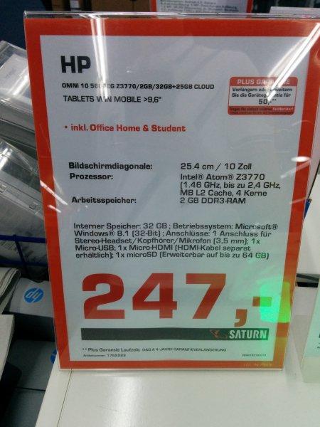 HP Omni 10 5600 EG Windows 8 Tablet für 247€ Saturn Hamburg