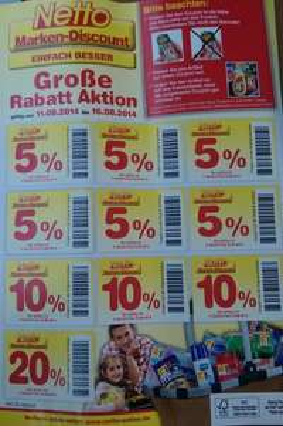 Bundesweit Netto Marken-Discount Coupon Aktion 20%