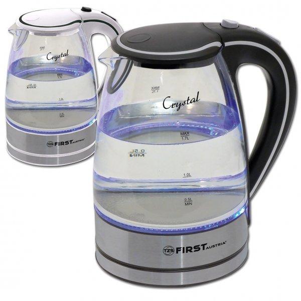 2200 Watt Wasserkocher aus Glas und Edelstahl 1,7 Liter / schnurlos / kabellos *** 21,90€ + 4,90€ ***