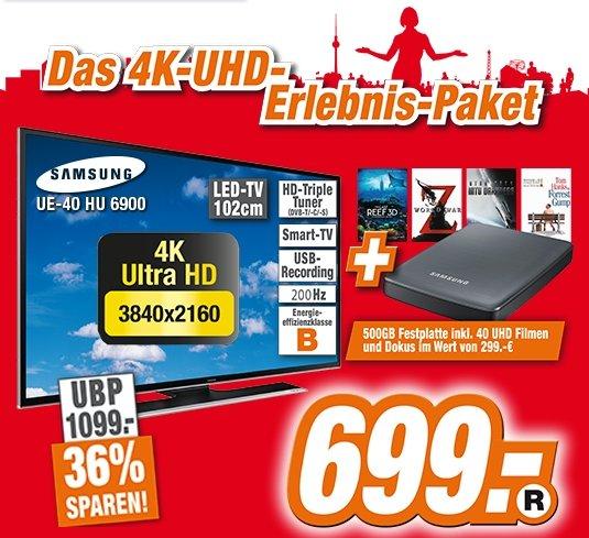 4K - Samsung UE40HU6900