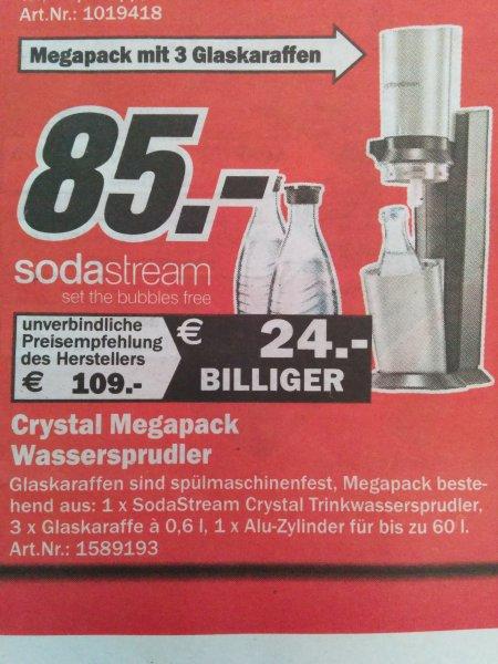[Lokal - MM Aachen] sodastream crystal Megapack inkl. 3 Glaskaraffen
