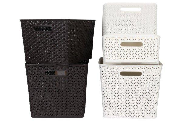 5er-Set Aufbewahrungsbox M-XL von CURVER -My Style- in Creme und Braun