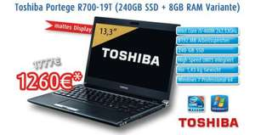 "mattes 13,3"" Notebook i5/ 240GB SSD/ 8GB / HDMI/ UMTS/ 1,43kg"