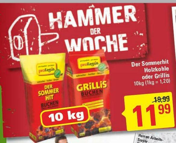 [Marktkauf Nordwest] ProFagus Sommerhit Holzkohle und -briketts 10kg