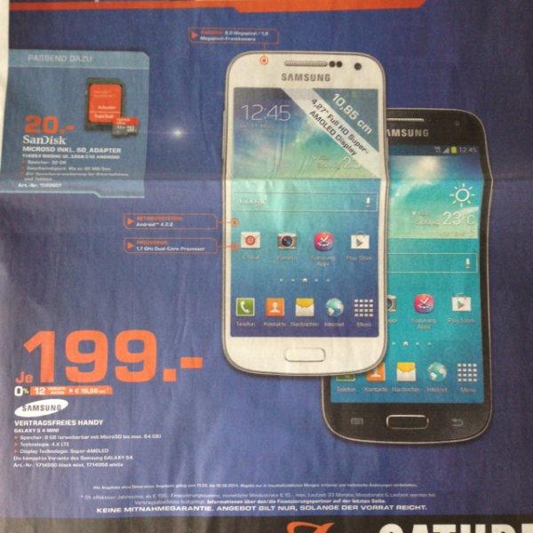 [lokal Allgäu] Samsung Galaxy S4 Mini für 199€ @ Saturn