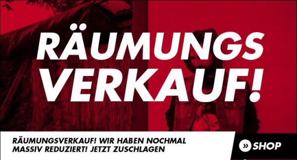 Räumungsverkauf bei burner.de (bis zu 75 %)