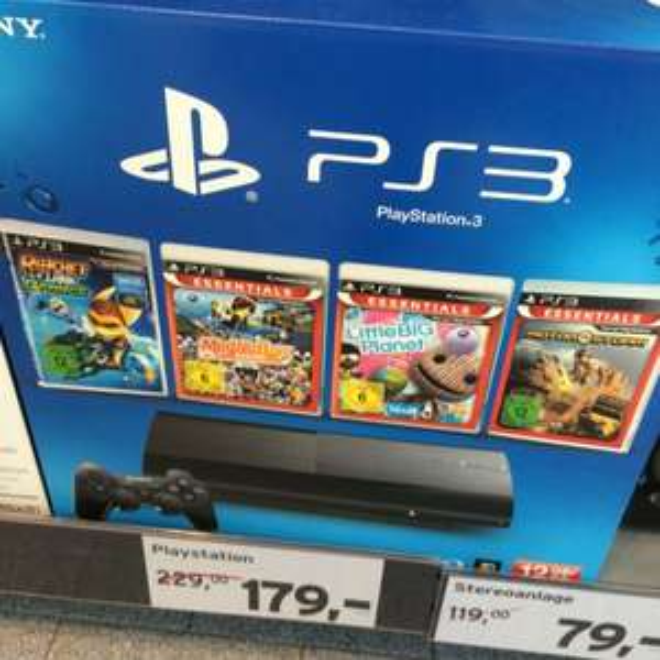 [tchibo leipzig] Playstation 3 mit 4 Spielen 12 Gb