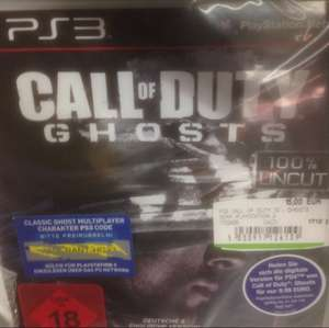 Call of Duty: Ghosts (PS3) für 15€ @ Media Markt Wuppertal (Idealo 20,25€)