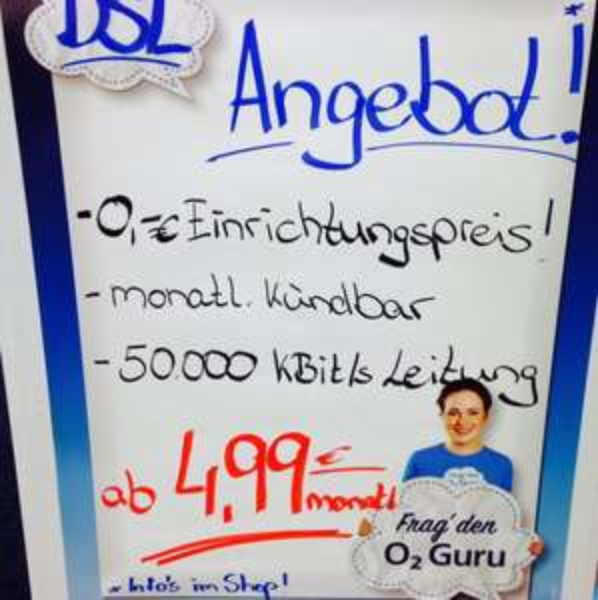 [lokal o2 shop in den arkaden berlin wilmersdorf] O2 Dsl monatl. Kündbar