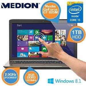 "[ibood.de] Medion AKOYA P7631T (MD98587) Touch Notebook 17,3"", 8GB RAM, Intel i5, 1TB HDD, WIN 8, Idealo.de ab 727,72"