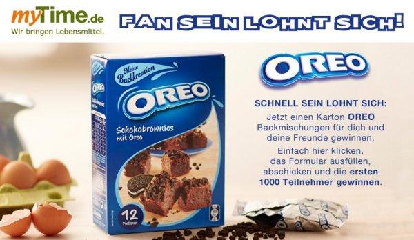 6x Oreo Brownie Backmischung GRATIS Facebook Aktion - Begrenzt auf 1000 Stück