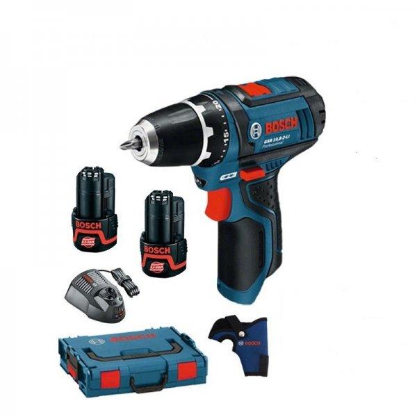 Bosch GSR (blau) 10,8-2-Li 2x Akkus 2,0Ah Lader AL1130CV L-BOXX Gr. 1 bei EBAY