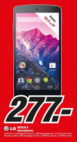LG Google Nexus 5 für 277€ Lokal [Mediamarkt Velbert]