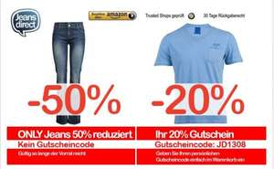 Scotch & Soda, Joop, Jack & Jones Herren T-Shirts -20% | -50% auf Only Damen Jeans @ jeans direct