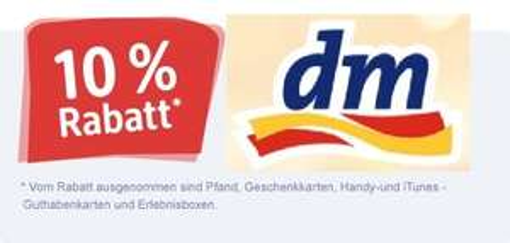 [lokal] dm Drogerie Frankfurt am Main - Kaiserstraße 11: 10 % auf alles vom 11.08. - 16.08.