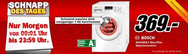 [Media Markt] Schnapp des Tages am 14. August: Bosch WAK282LX MaxxPlus, inkl. Versandt, Ersparnis 70 Euro!