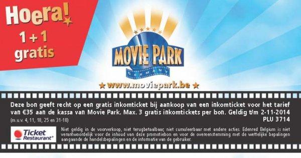 2 Personen für 35 € !! Movie Park 2 zu 1 Ticket PLus 2. Tag frei