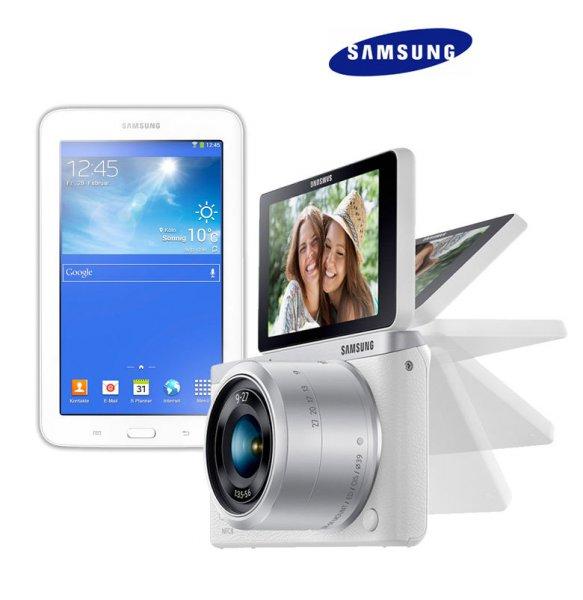 Samsung NX Mini Kit 9 mm + 9-27 mm + Galaxy Tab 3 Lite für 399€