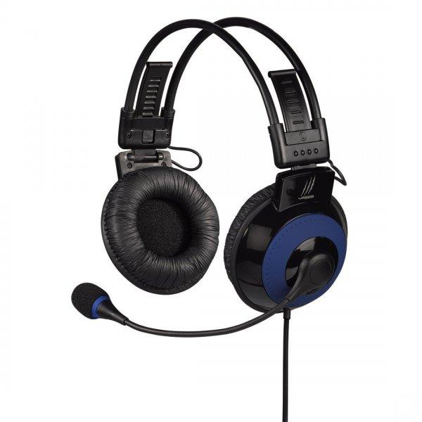 uRage Vibra Gaming-Headset, 3,5 mm Klinkenstecker, USB, blau/schwarz